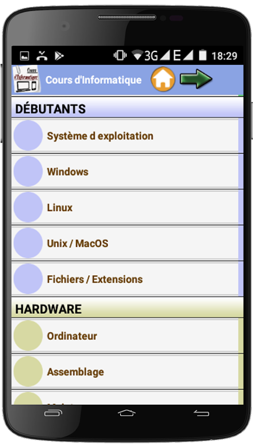 Cours d'informatique- screenshot