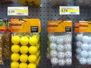 Photo: Sample practice golf balls