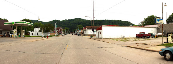 Photo: Downtown Gays Mills Wisconsin, June 2010, note the building with the red roof on the right.