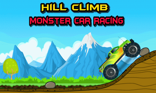 Hill Climb Monster Car Racing
