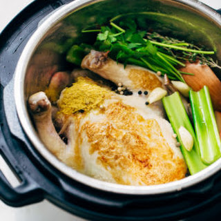 One Hour Pressure Cooker Chicken Broth.