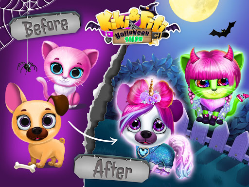 Kiki & Fifi Halloween Salon - Scary Pet Makeover 3.0.25 screenshots 22