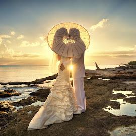 Sunset by Milan Vasovic - Wedding Bride & Groom ( milan, sunset at bayahibe, sunset, milanphotocineart, punta cana photographer )