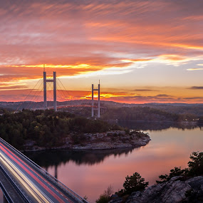 Golden gate of Sweden by Maths Karlsson - Landscapes Sunsets & Sunrises ( sweden, golden gate bridge, sunset, uddevalla, tjörn, sunrise, orust, golden gate, golden,  )