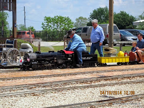 Photo: Engineer Pete Greene and Gary Brothers      HALS Public Run Day 2014-0419 DH3
