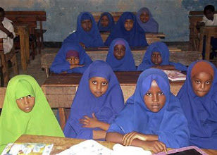 Photo: Scholarships for girls to access education can boost up national development and gender equality. Education is a weapon against disease, poverty and oppression. We are lobbying for free education in primary schools in Puntland!....but realise we are very far from realising this.