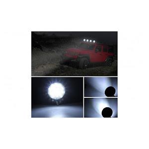 Set 4 x Proiector LED BAR, OFF ROAD, rotund, 14 LED, 42 W, 11 cm