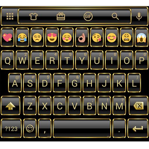 Frame Gold Emoji Keyboard