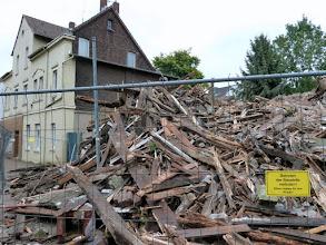 Photo: Betreten der Baustelle verboten!