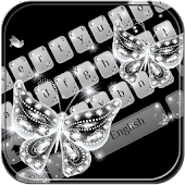 Glitter diamond Keyboard Theme