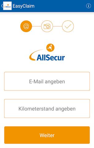 android EasyClaim AllSecur Screenshot 1