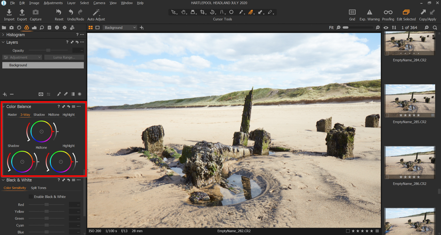 Capture One Color Balance tool for color grading