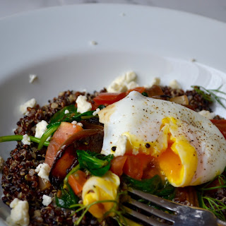 Mediterranean Quinoa Breakfast Bowl.