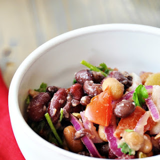 Spicy Three Bean Salad.