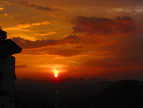 Photo: Sunset from the Rooftop of the house in Kandy