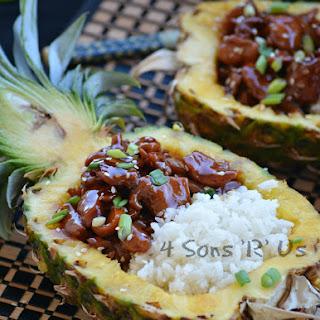 Chicken Teriyaki Pineapple Rice Bowls.