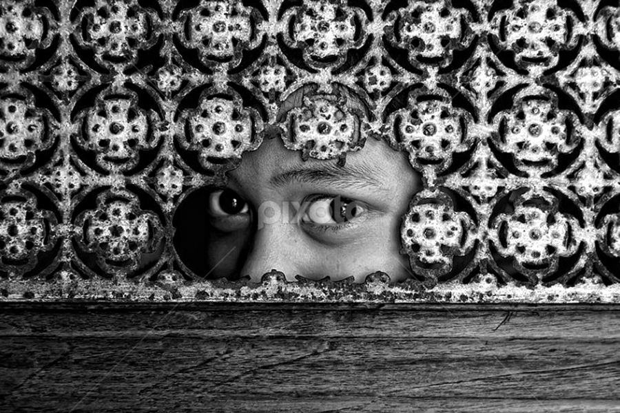 by Ayah Adit Qunyit - Artistic Objects Other Objects ( , black and white, b&w, child, portrait )