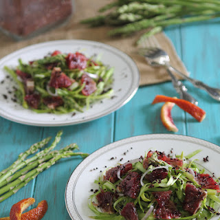 Shaved Asparagus & Blood Orange Salad With Toasted Quinoa