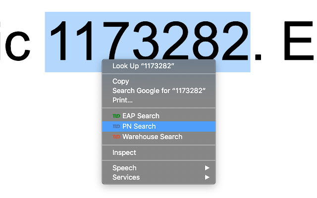 TLD PN Search