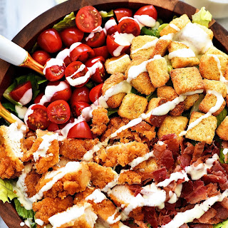 Crispy Chicken BLT Salad Recipe