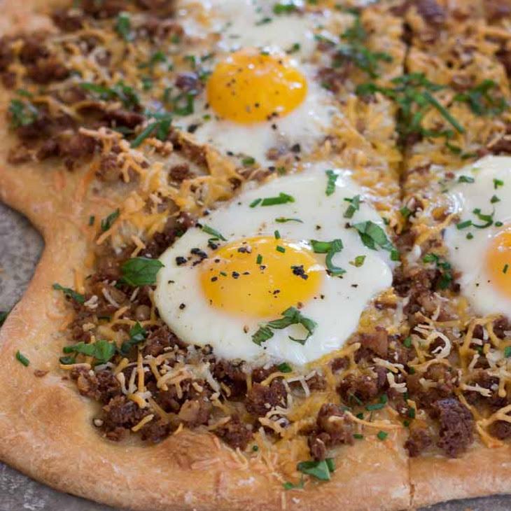 Corned Beef Hash Breakfast Pizza