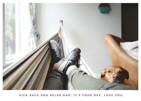 Kick Back & Relax - Father's Day Card Template