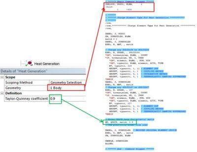 ANSYS | Объект из ACT-расширения и соответствующий ему набор APDL-команд