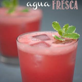 Watermelon Mint Agua Fresca.
