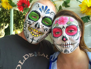 Photo: Day of the Dead sugar skull face painting by Maria from Chino. Call to book her today: 888-750-7024 http://www.memorableevententertainment.com/FacePainting/MariaChino,Ca.aspx