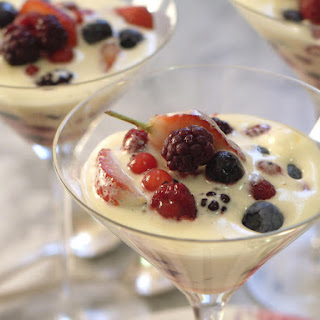 Sabayon with Mixed Berries