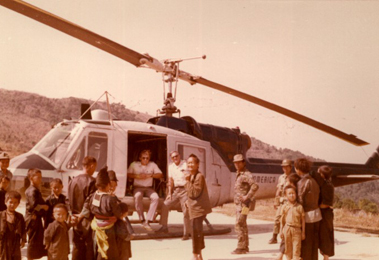 Air America helicopter in Laos.  Photo: Air America Association.