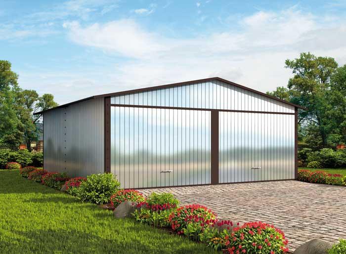 Projekt Garażu Gb19 Garaż Blaszany Txp 982 3853m²