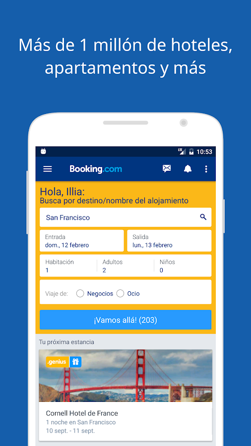Booking.com Reservas Hoteles: captura de pantalla