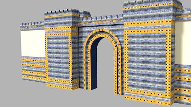 Photo: Modelo 3D - Muros estilo Babilonia - Blender 3D