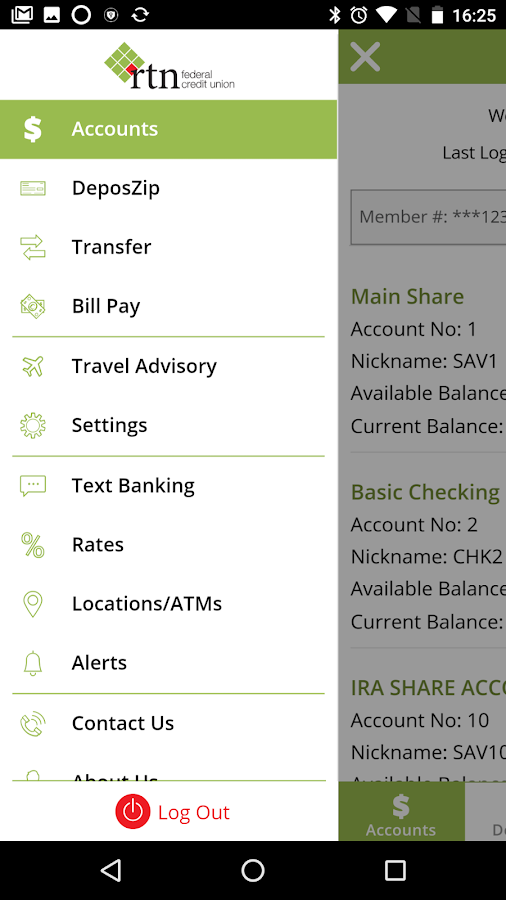 RTN FCU Mobile- screenshot