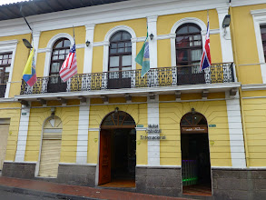 Photo: The hotel where we stayed in Quito