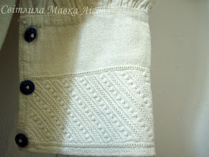 Photo: манжет чоловічої сорочки з Вінниччини біле шиття