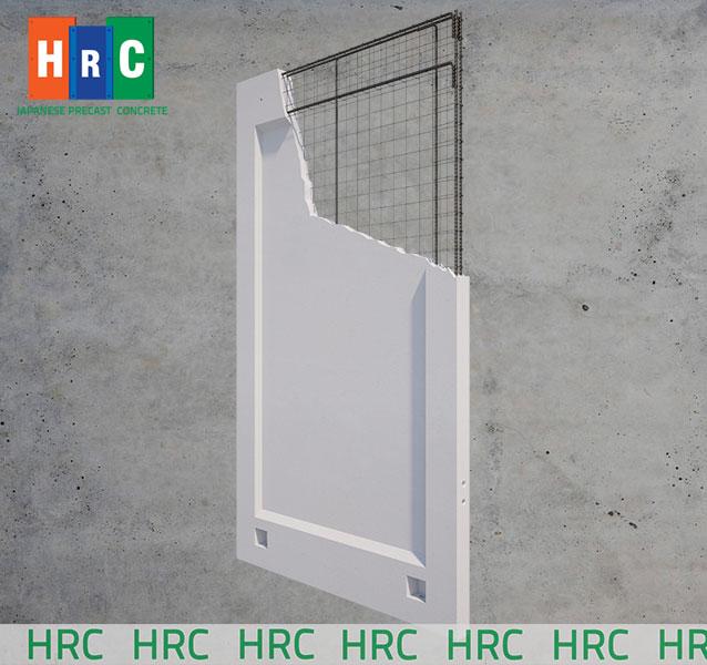 Tấm tường bằng tấm bê tông cốt thép tại Công ty xây dựng HRC Việt Nam