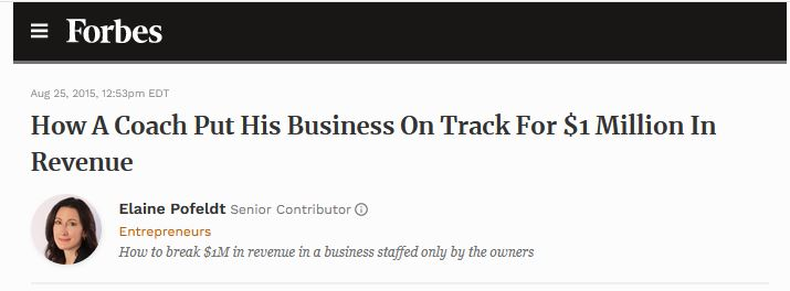 SEO for Small Businesses - Forbes article title