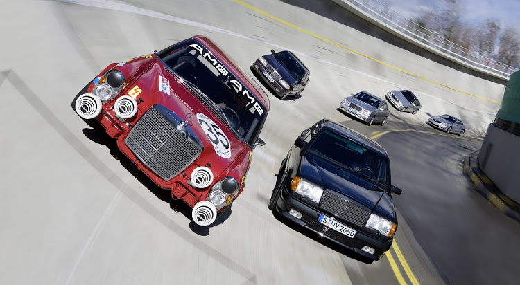 "The first vehicle associated with AMG was a racing car nicknamed the ""Red Pig"" that started life as a Mercedes 300 SEL 6.3 sedan."
