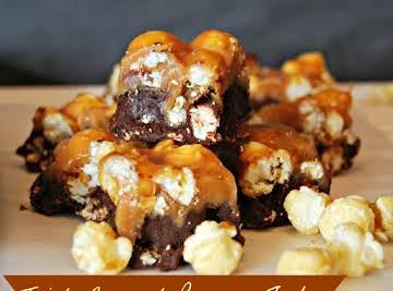 Triple-Caramel Popcorn Fudge