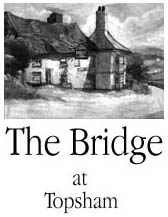 The Bridge Inn at Topsham pencil drawing