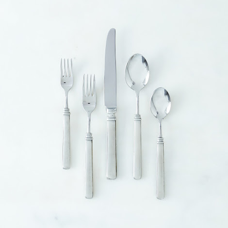 Gabriella Pewter Flatware (5 Piece Set)