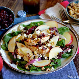 Apple, Walnut and Chicken Spinach Salad