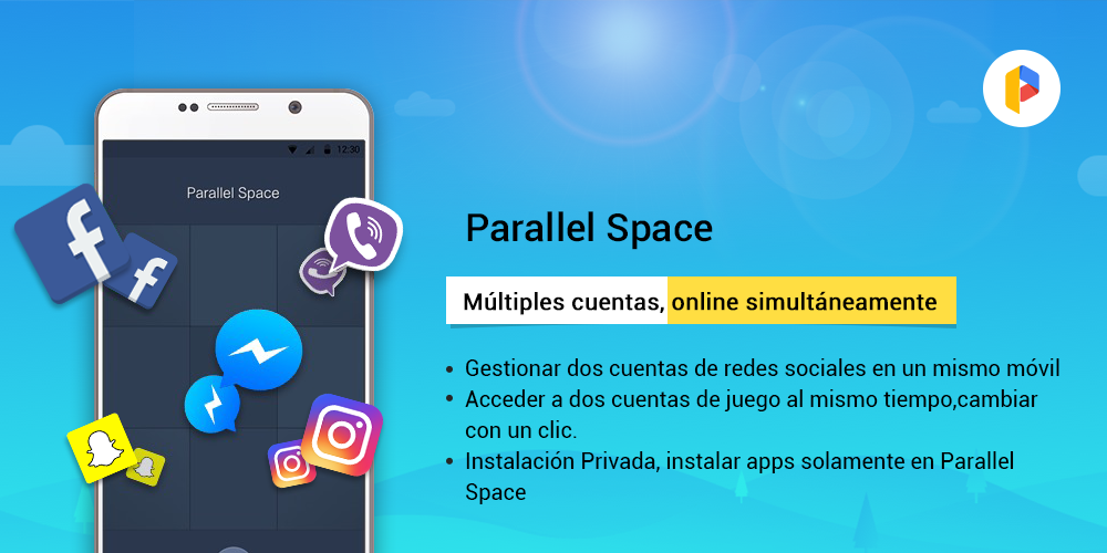 Parallel Space-Multi Cuentas: captura de pantalla