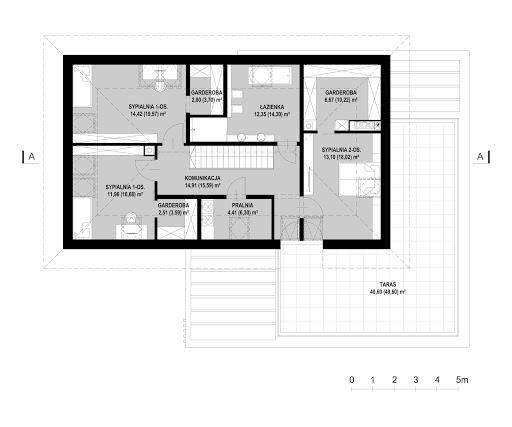 New House 9 - Rzut poddasza