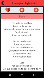 Enrique Iglesias Lyrics screenshot 5