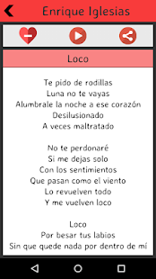 Enrique Iglesias Lyrics screenshot