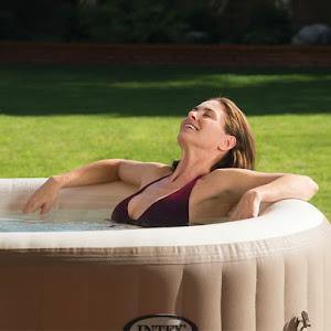 Jacuzzi cu 4 locuri - Intex PureSpa Bubble Massage, 196x71 cm