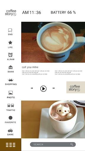 커피 아트 버즈런처 테마 (홈팩) app (apk) free download for Android/PC/Windows screenshot